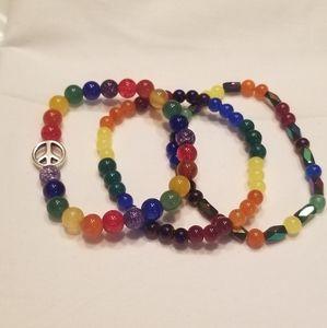 🎉2xHP! 🏳️🌈 Super cute LGBTQ pride bracelet set